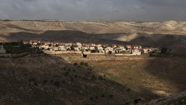 The Jewish settlement of Maaleh Adumim, on the outskirts of Jerusalem (Sebastian Scheiner/AP)