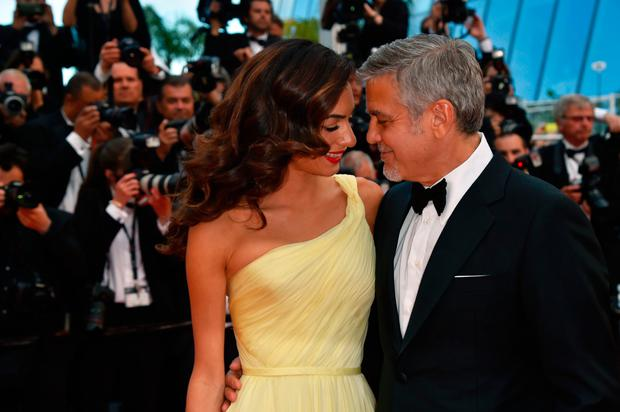 Amal and George Clooney at the Cannes Film Festival in France last year. Photo: Getty