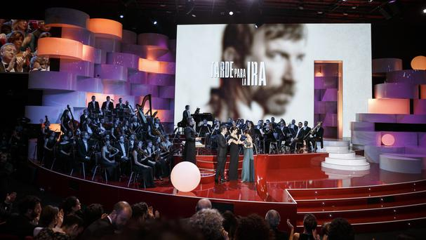 The Goya Film Awards ceremony in Madrid (Daniel Ochoa de Olza/AP)
