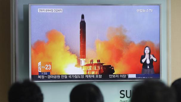 North Korea has test fired missiles in the past