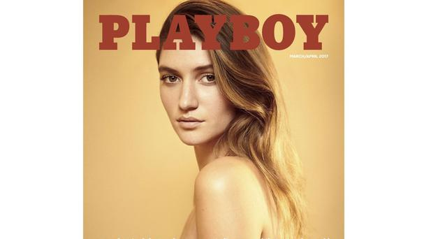 Elizabeth Elam on the cover of the latest issue of Playboy, as naked women were back in the magazine after a one year ban (Gavin Bond/Playboy via AP)