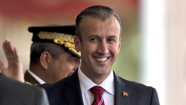 The US has imposed sanctions on Tareck El Aissami, Venezuela's vice president, after accusing him of playing a major role in international drug trafficking (AP/Fernando Llano)