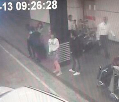 Grainy CCTV footage shows a woman sought by police over Kim Jong-nam's murder. Photo: AP