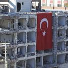 The aftermath from an overnight bomb attack in Viransehir, south-eastern Turkey. (Hasan Kirmizitas/DHA-Depo Photos/AP)