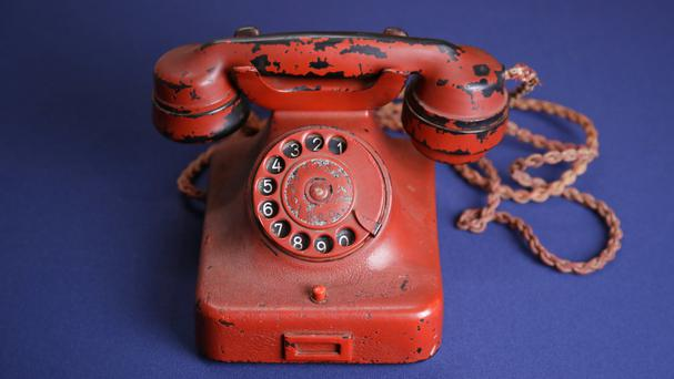 Adolf Hitler's personal telephone has been sold at auction by the son of a British officer who was given it in 1945 (AP Photo/Patrick Semansky)