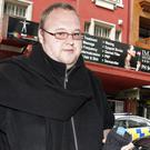 Kim Dotcom pictured in Novermbe 2014, as a New Zealand judge upheld an earlier court ruling he can be extradited to the US (Chris Gorman/New Zealand Herald via AP, File)