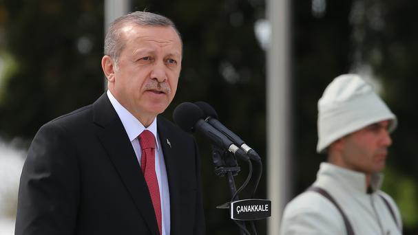 Turkey's president Recep Tayyip Erdogan left the hotel just before it was stormed