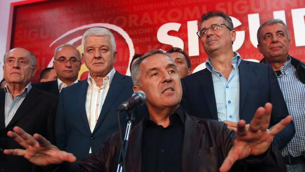 Russia and its secret service operatives have been accused of plotting a coup attempt that included plans to kill former prime minister Milo Djukanovic (AP/Darko Vojinovic)
