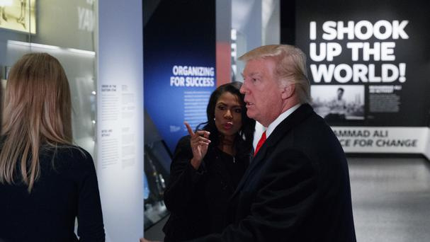 Donald Trump tours the National Museum of African American History and Culture (AP)