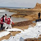 The bodies of people that washed ashore near Zawiya, Libya (IFRC/AP)