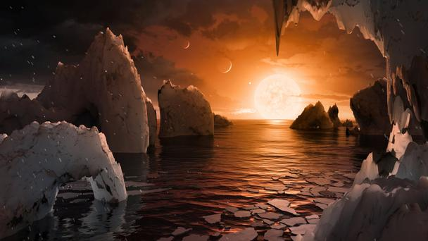 An artist's impression of how the surface of planet 'Trappist-1 f' might look. Photo: REUTERS