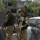 Pakistani soldiers near the site of an explosion in Lahore (AP/KM Chaudary)