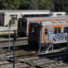 The depot of an urban railway is quiet during a 24-hour strike in Athens (AP/Thanassis Stavrakis)