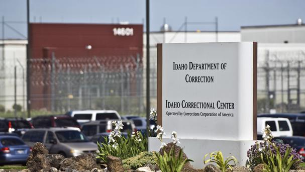 Attorney general Jeff Sessions is backing the government's use of private prisons such as the Idaho Correctional Centre, run by the Corrections Corporation of America (AP)