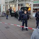 Police at the scene in Heidelberg, Germany (R Priebe/PR-Video/dpa via AP)