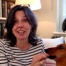 TRUSTING: Helen Bailey with her dachshund Boris.