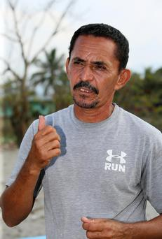 Fisherman Santos Francisco Diaz Romero from Cuyamel near San Pedro Sula, Honduras where Trócaire are working with their local partners CASM Omoa to help residents of a coastal community who are losing their home to rising sea levels