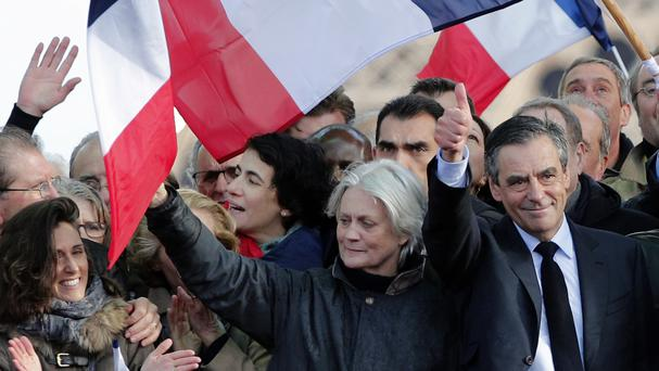 Francois Fillon with his wife Penelope