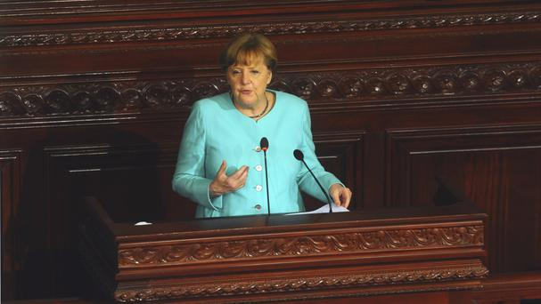 Senior members of Mrs Merkel's government have hit out at the comment (AP)