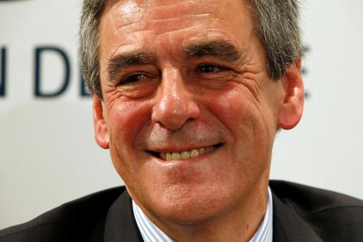François Fillon at a campaign event earlier yesterday. Photo: Reuters