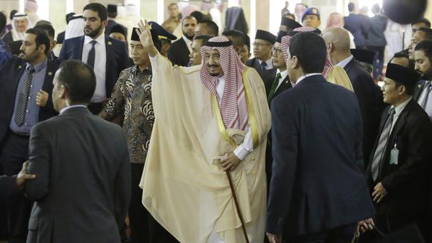 King Salman is on a tour of the region (AP)