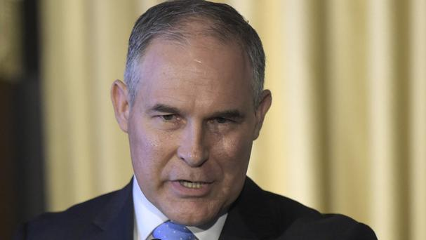 Scott Pruitt's view is at odds with mainstream climate science (Susan Walsh/AP)