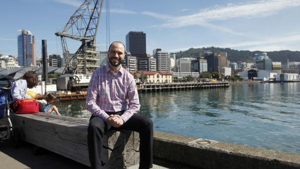 Tech developer Nick Piesco, who moved to Wellington from Austin, Texas, two weeks ago (Nick Perry/AP)