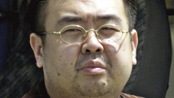 Kim Jong Nam, exiled half-brother of North Korea's leader Kim Jong Un, pictured in Japan in 2001 (Shizuo Kambayashi/AP)