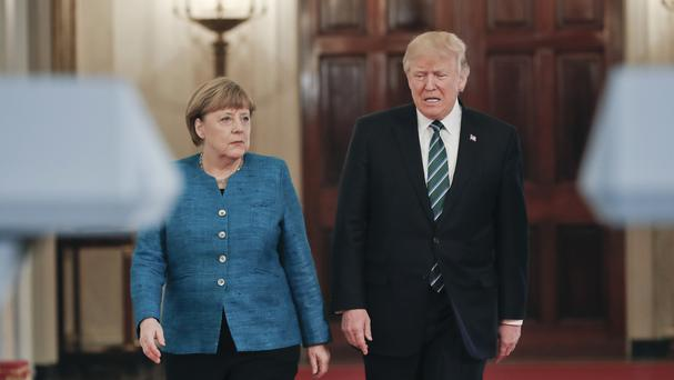 Mrs Merkel met the US president a matter of days ago (AP)