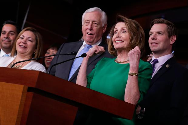 House Minority Leader Nancy Pelosi (D-CA) holds a news conference in the House Visitors Center in the US Capitol