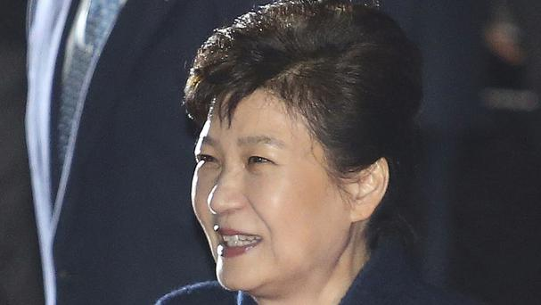 Prosecutors are seeking to arrest ousted South Korean president Park Geun-hye (AP)