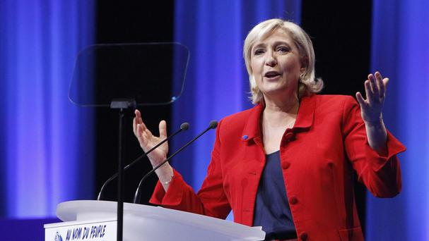Ms Le Pen wants to take France out of the eurozone and the EU (AP)
