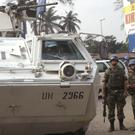 UN troops on patrol in the city of Kinshasa (AP)