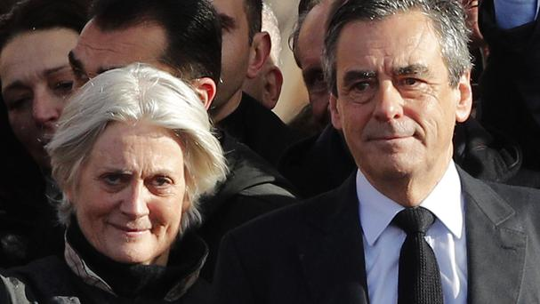French conservative presidential candidate Francois Fillon and his wife Penelope (AP)