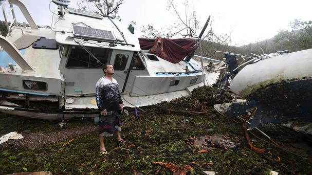 Debris at Shute Harbour in Airlie Beach, Australia (AAP/AP)