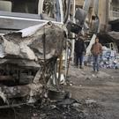 Suicide bombing in Baghdad (AP Photo/Karim Kadim)