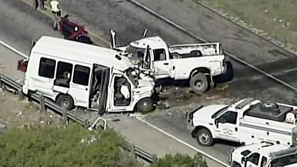 The crash happened on US 83 outside Garner State Park in Texas (KABB/WOAI/AP)
