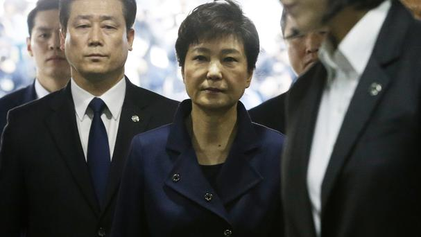 Park Geun-hye at Seoul Central District Court (AP)