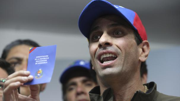 Henrique Capriles has been banned from running for office for 15 years (Fernando Llano/AP/PA)
