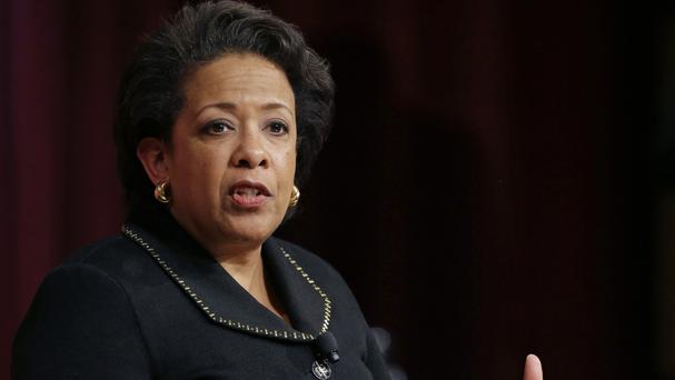 Former US attorney general Loretta Lynch speaks during the conference on policy and blacks at Harvard University (AP)