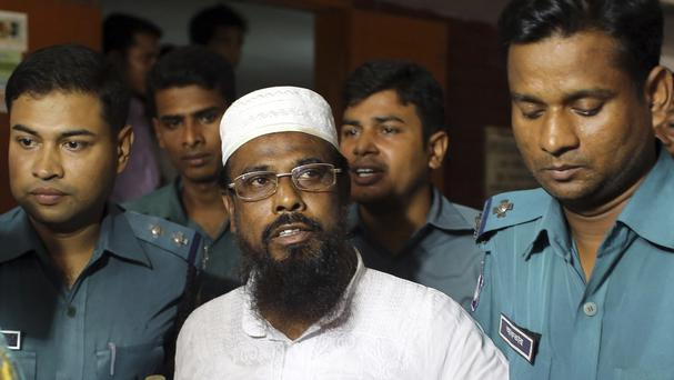 Mufti Hannan, pictured in 2014, has been hanged along with two accomplices (AP Photo/A.M. Ahad, File)