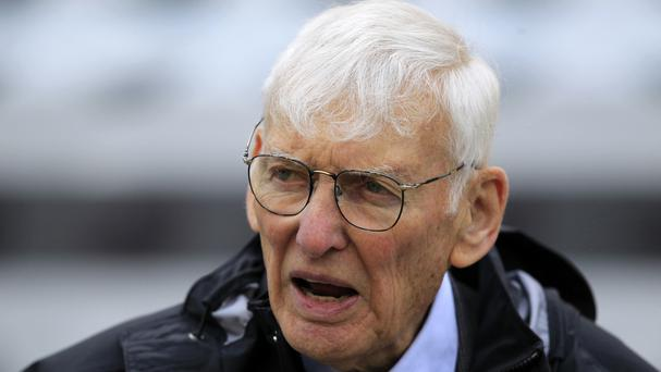 Dan Rooney pictured in 2012 - the powerful and popular Pittsburgh Steelers chairman has died aged 84 (AP Photo/Gene J. Puskar, File)