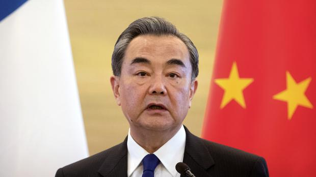 Chinese foreign minister Wang Yi (AP/Mark Schiefelbein)
