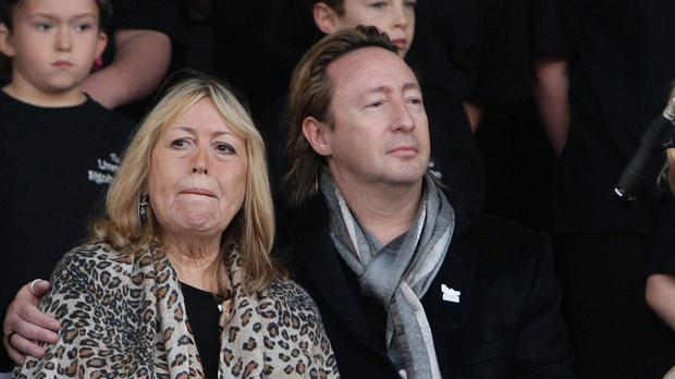 Julian Lennon With His Mother Cynthia