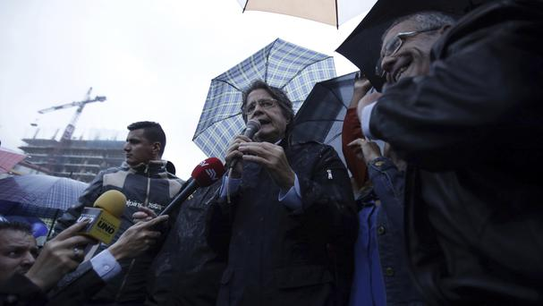 Guillermo Lasso, the opposition candidate defeated in Ecuador's elections, is demanding a recount (AP/Dolores Ochoa)