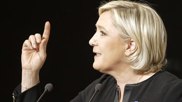 Far-right candidate for the presidential election Marine Le Pen (AP Photo/Claude Paris)