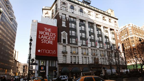 Macy's is one of the world's largest fashion goods retailers operating department stores and is valued at $9bn (€8.4bn). Photo: PA