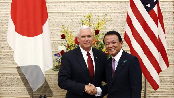 US VP Pence says to North Korea: 'The sword stands ready'