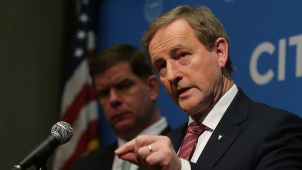 Taoiseach Enda Kenny pictured in Boston in March (Niall Carson/PA)