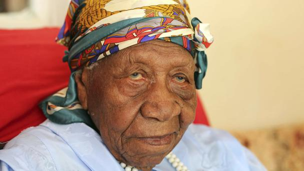 Violet Brown, the world's oldest person, at her home in Duanvale, Jamaica (Raymond Simpson/AP)